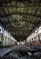Abandoned industry building interior