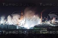Industrial Night Landscape