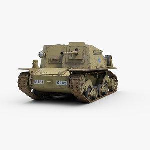 3d ww2 semovente l40 model