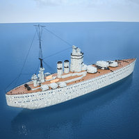 HMS Nelson Battle Ship Royal Navy - Low Poly 3D Model(1)
