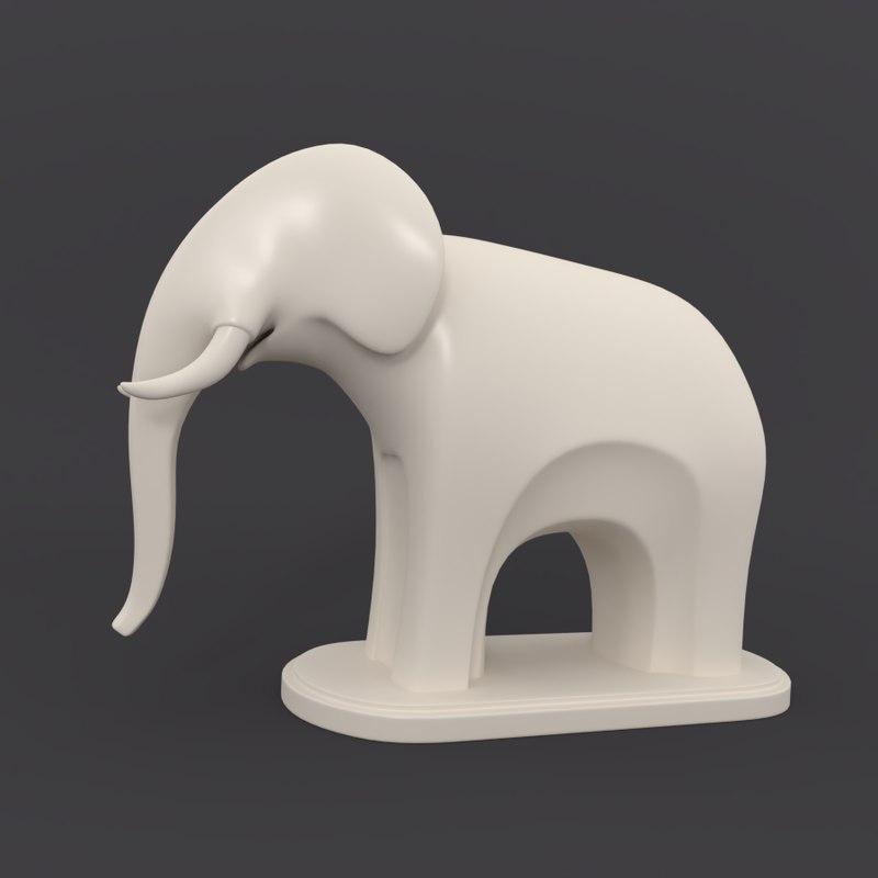 cartoon elephant 3d 3ds