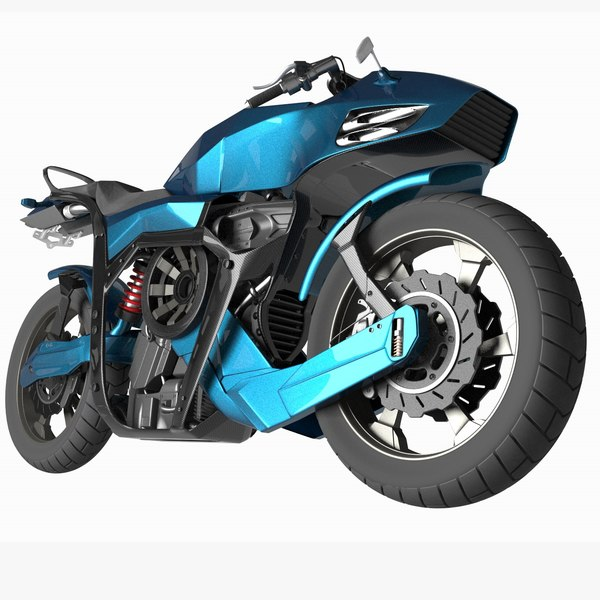 futuristic motorcycle 3d 3ds