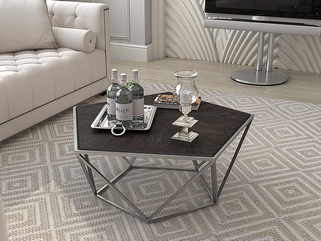 eichholtz coffee table pentagon 3d model