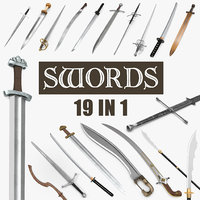 swords warrior falchion 3D