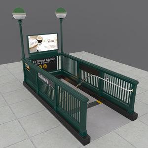 subway entrance 3ds