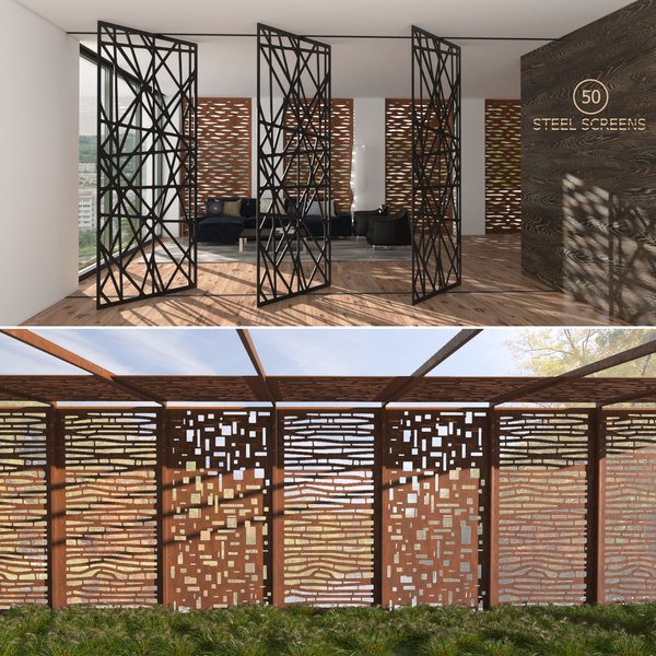decorative screens indoor outdoor 3d max