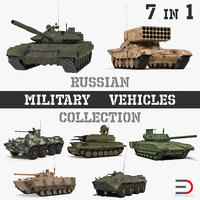 russian military vehicles tank 3D model