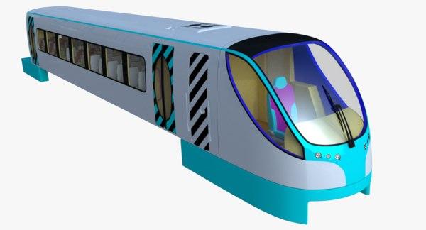 monorail train 3d x