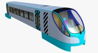 monorail train 3d x