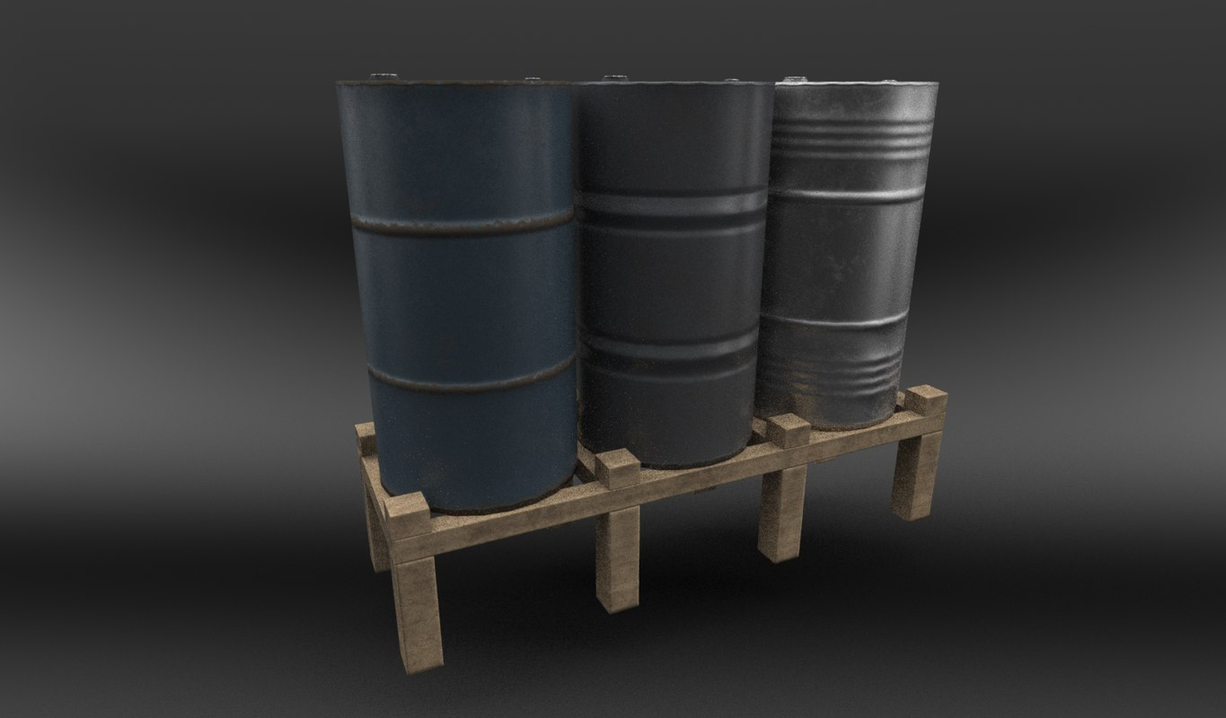 barrel ready pbr 3d model