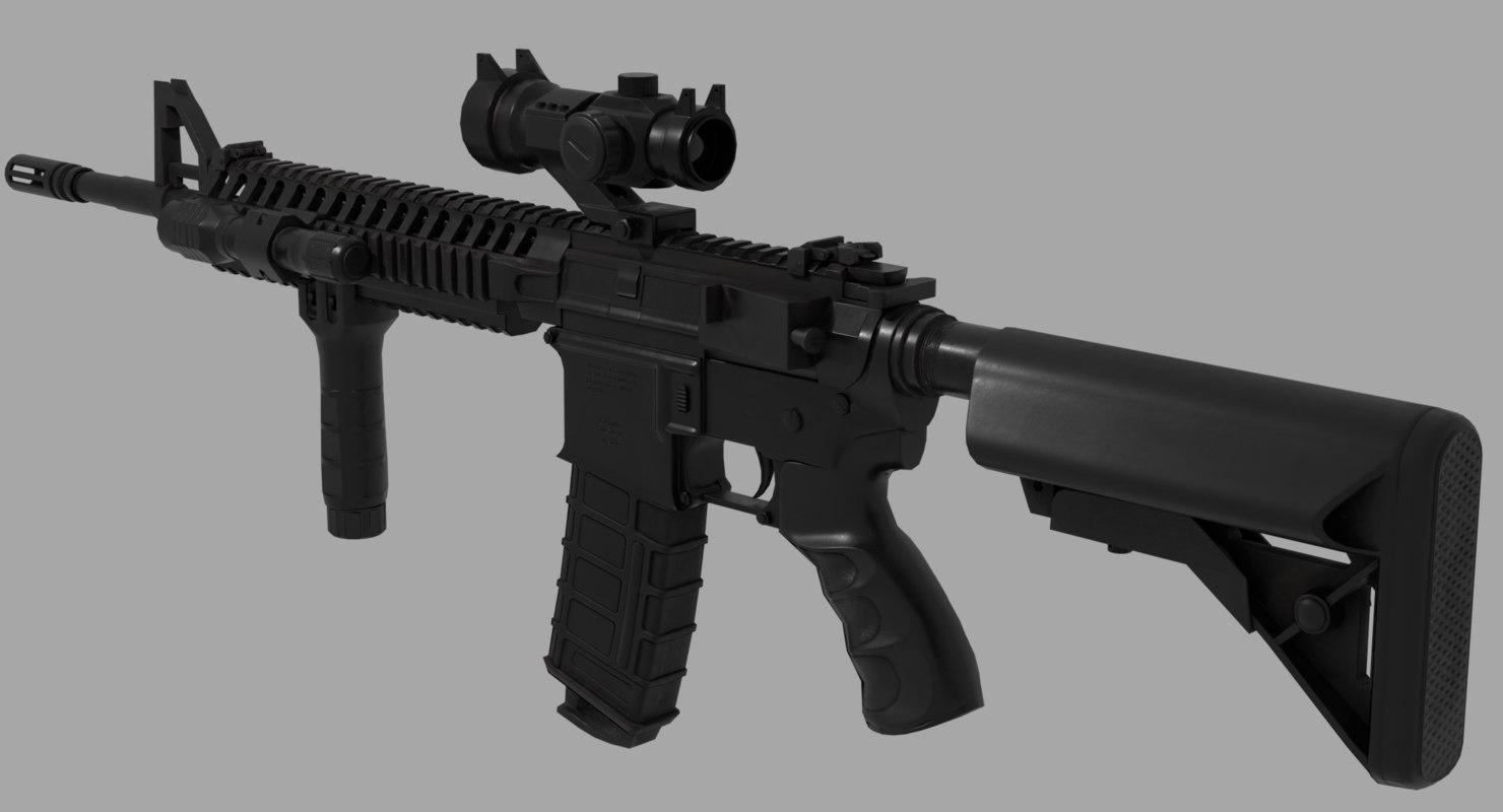 pbr carbine 3D model