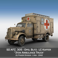 3d opel blitz - ambulance model