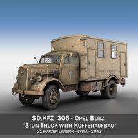Opel Blitz - 3t Cargo Truck with Kofferaufbau- 21 PzDiv