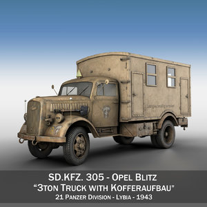 opel blitz - transport c4d