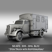 Opel Blitz - 3t  Truck with Kofferaufbau