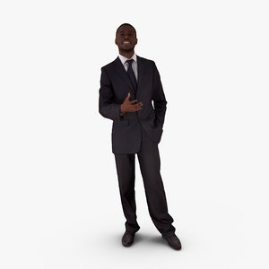 businessman talking human 3ds