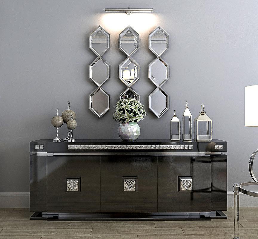 lalique sideboard 3d model