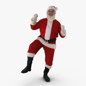 3d santa dancing people human