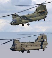 chinook ch-47 helicopter 3d c4d