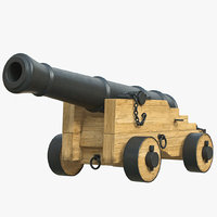 cannon artillery naval 3d model