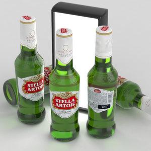 3d model beer stella artois