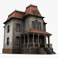 realistic bates mansion 3d model