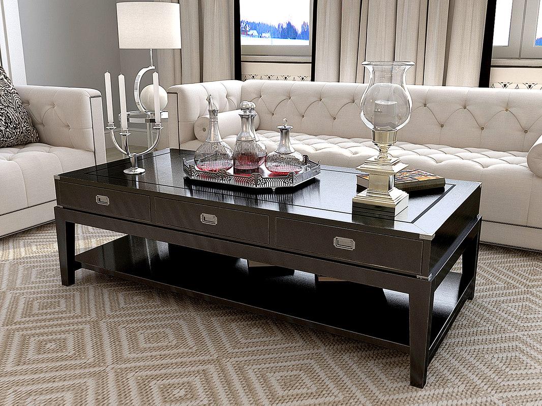 eichholtz military coffee table 3d max