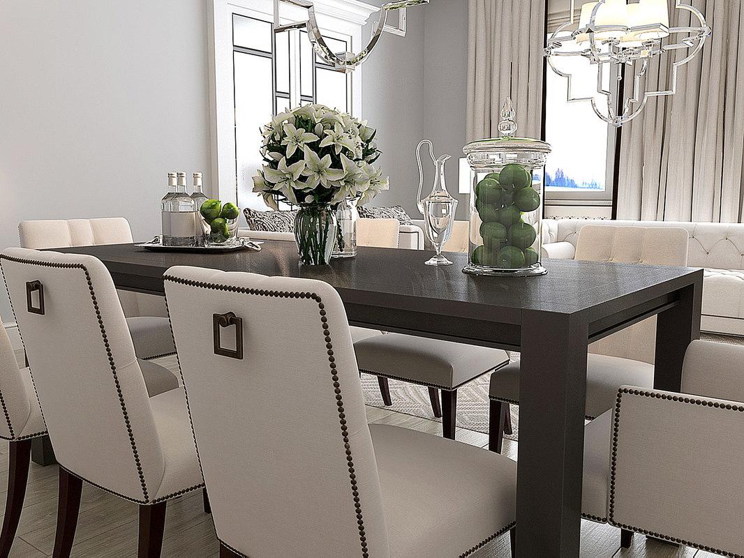 3d 3ds eichholtz dining table devon