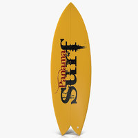 Surfboard Fish 3 3D Model