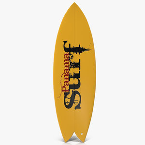 3ds surfboard fish 3