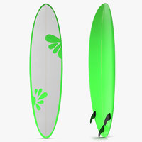 Surfboard Funboard 4 3D Model