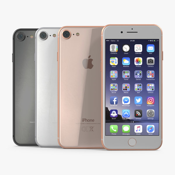 3D iphone 8 set