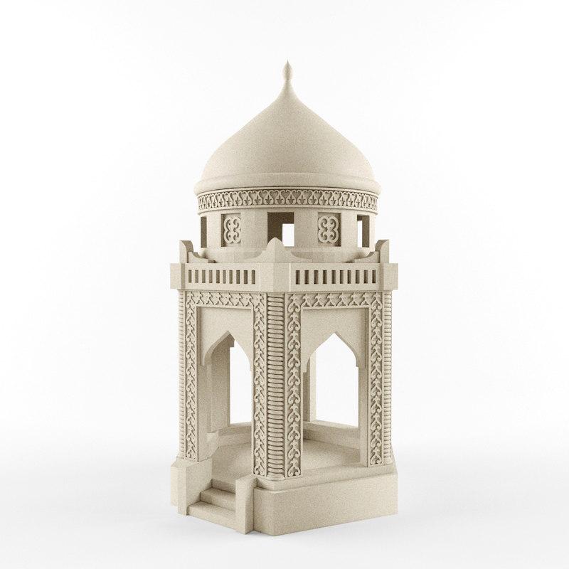 kazakhs mausoleum 3d model