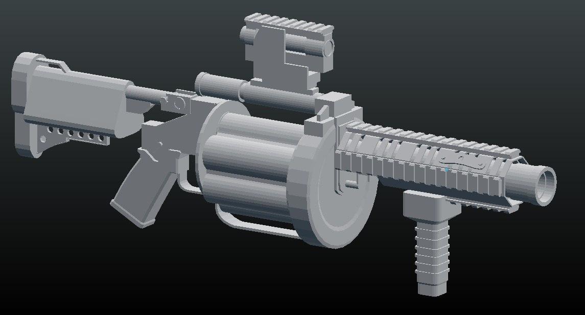 3D m32 grenade launcher