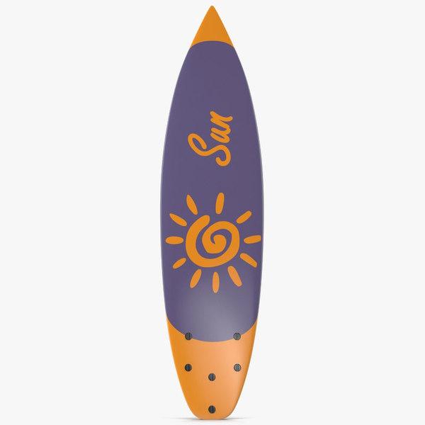 surfboard shortboard board 3d max