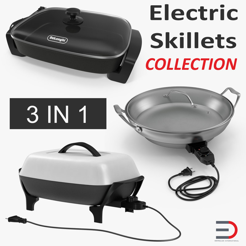 electric skillets 3D model
