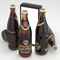 Beer Bottle Paulaner Hefe-Weissbier Dunkel 500ml