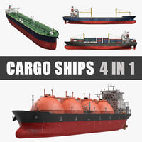 Cargo Ships 3D Models Collection 2