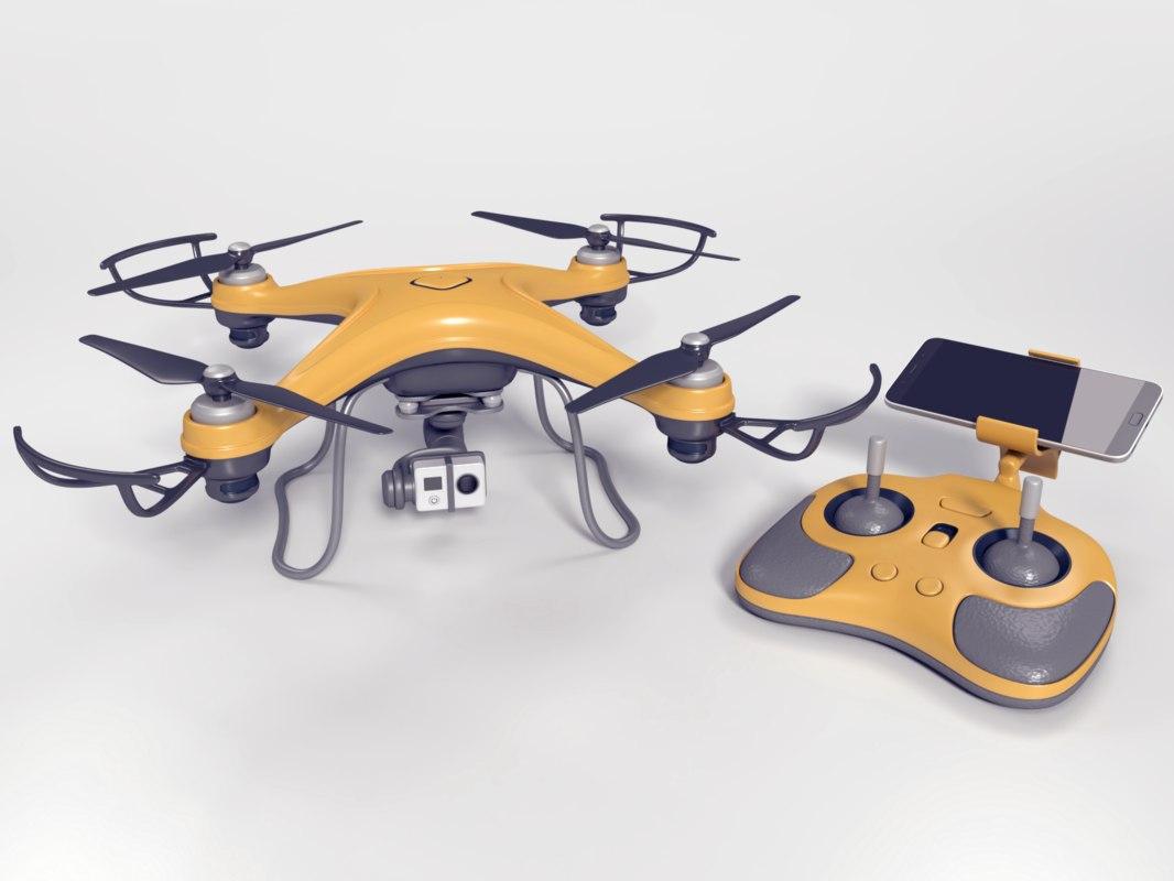 quadcopter drone quads 3ds