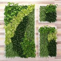 3D green wall model