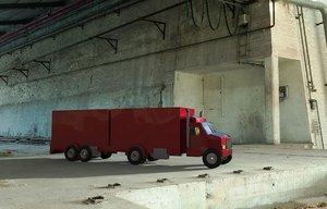 3d model heavy road truck