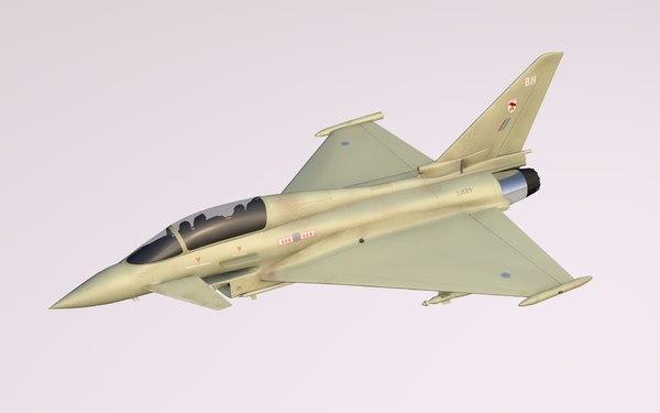 eurofighter typhoon fighter jet c4d