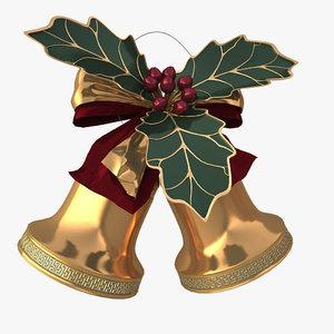 3d 3ds christmas bells