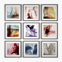picture frames art wall design 3d model