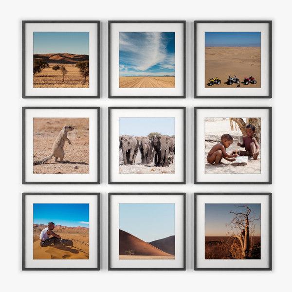 photo wall namibia 3d model