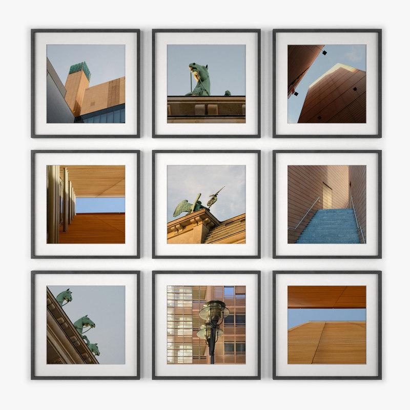 3d model of photo wall berlin