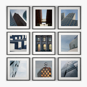 photo wall berlin architecture 3d model