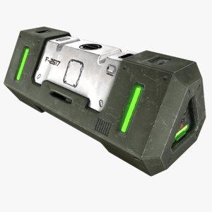 3d model sci-fi crate