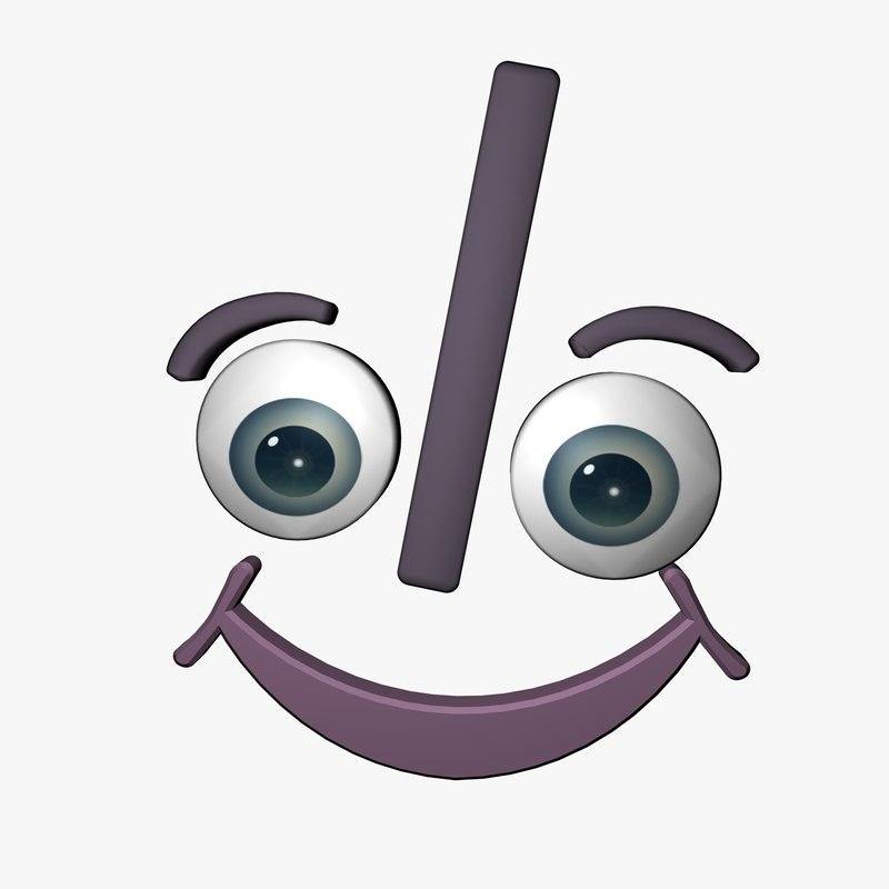 smile character 3d model