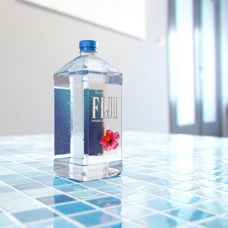 3d model water bottle fiji